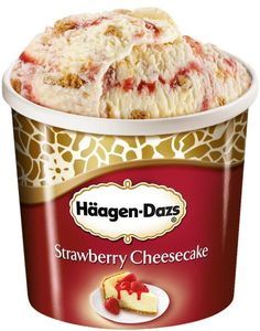 Haagen-Dazs Strawberry Cheesecake. Comes in a close favourite next to Ben & Jerrys.