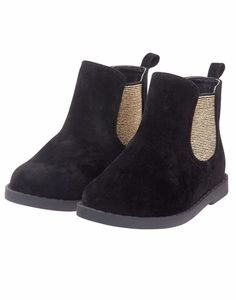 NWT Gymboree CATASTIC Girls Sz 1 US Black & Gold Slip-On Ankle Boots #Gymboree #Boots #Everyday