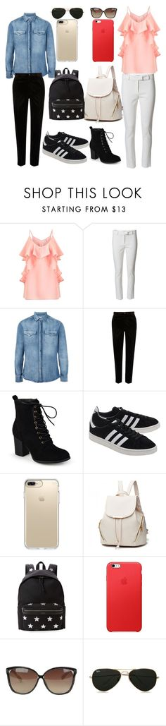"""""""collage outfit"""" by anannyatiwari ❤ liked on Polyvore featuring Miss Selfridge, Altuzarra, Brunello Cucinelli, River Island, Journee Collection, adidas Originals, Speck, Yves Saint Laurent, Linda Farrow and Topman"""