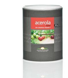 Acerola Pulver 500g.Amazonas Acerola Pulver - Naturliche Vitamin C.Natürliches Vitamin C mit wirkungsverstärkenden Pflanzenstoffen.:- Row - Laktosefrei - Vegan - Glutenfrei - Acerola Fruchtpulverextrakt mit 17 % natürlichem Vitamin C - Trägerstoff: Bio Maltodextrin aus Maniok gewonnen.Geschmack,   mit einem Anteil von nur 20-30 % Maltodextrin. - Auf den internationalen Märkten wird größtenteils Acerolapulver    mit über 50 % Maltodextrinanteil angeboten.