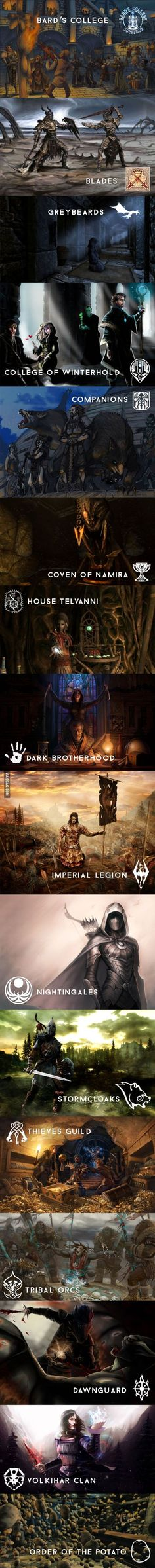 What's your favorite Skyrim faction? Mine is thieves guild an dark brotherhood
