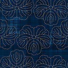 Белое на синем: традиционная японская вышивка сашико