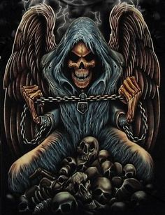 Grim Reaper with the chain of life in his hands