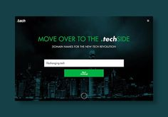 Get a .tech domain for your website for 80% off