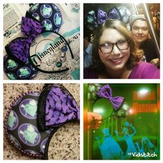 Disney's Haunted Mansion Inspiration - Minnie Mouse Disney Ears Source Instagram By @earsbyaudry @fattie_poppins @cyncyndisney #minniemouseears #disneyears #mickeymouseears #thehauntedmansion