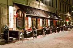 Gothenburg, Sweden,  Wonderful winter evening vegetarian meal.  Not exactly sure this is the same restaurant but it's close enough.  Lol