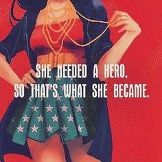 YES! #inspiration #hero #beyourownhero #quote #quoteoftheday #wonderwoman ™@vida_nauta