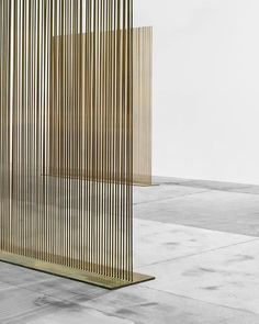scandinaviancollectors: HARRY BERTOIA Sonambient sounding sculpture Material beryllium copper and bronze. Screen Design, Wall Design, Interior Design Blogs, Design Interiors, Gold Interior, Interior Walls, Partition Screen, Divider Screen, Metal Room Divider