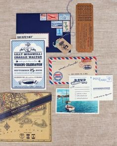 """See the """"DIY Vintage-Style Invitation"""" in our Beach Wedding Invitations gallery"""