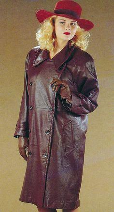Long Leather Coat, Leather Trench Coat, Leather Jacket, Leder Outfits, Henry Ford, Shirt Dress, Lady, Vintage, Womens Fashion