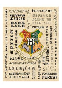 Hogwarts A3 Poster
