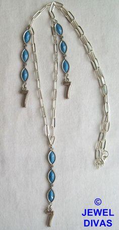 LUCKY NUMBER 7 - $10 - www.madeit.com.au/JewelDivas Lucky 7, Lucky Number, Number 7, Turquoise Necklace, Jewels, Fashion, Moda, Jewerly, Fashion Styles