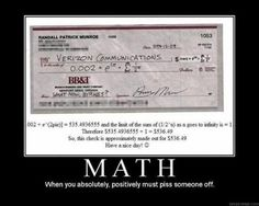 Because math happens!