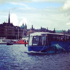 Remember my trip with the #meinschiff4 to #Stockholm. this is a swimming bus with can drive on the street or work like a ship in the water.