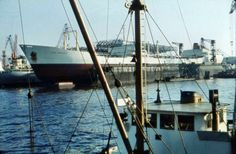 1953 Hamburg - Tanker 'Tina Onassis' bei Howaldtswerken (Sammlung: Torsten Radtke) ☺