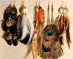 Feather earrings. One of my fav accessories right now.