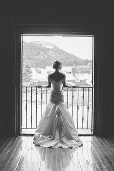 Stunning shot of the bride in a @rivini #weddingdress | Jessica Christie Photography | Brides.com