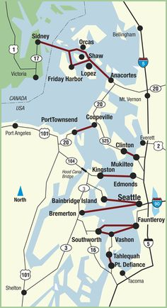 Washington State Ferries - Routes for Puget Sound Ferries in Washington State