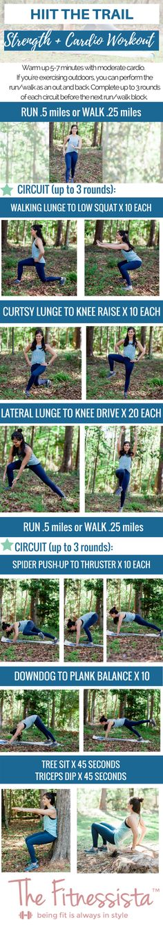 This total-body workout is perfect for your next outdoor HIIT and strength workout! You can do this one anywhere; all you need is your own bodyweight. More details at fitnessista.com #totalbodyworkout #outdoorworkout #HIITworkout #strengthandcardioworkout