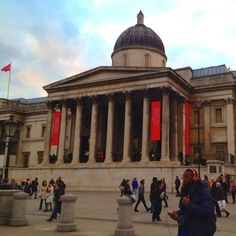 National Gallery London, enjoyed many a great work here! The Wolseley, Trafalgar Square, Private Club, Westminster, Places Ive Been, Taj Mahal, December, British, Museum