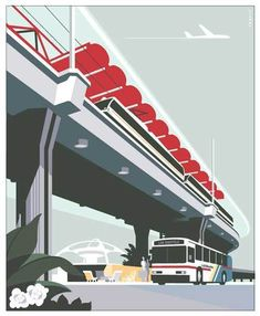 Series of posters for Los Angeles MTA to promote ridership of light rail, subway and buses.