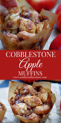 These are the BEST Apple Muffins! These pull-apart muffins bake up in their own caramel sauce & are filled with apple pie filling cream cheese & pecans. - Muffins - Ideas of Muffins Muffin Recipes, Breakfast Recipes, Dessert Recipes, Apple Desserts, Apple Recipes, Omelettes, Jumbo Muffins, Apple Pie Muffins, Baby Muffins