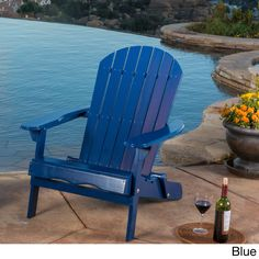 Hanlee Outdoor Folding Wood Adirondack Chair By Christopher Knight Home (