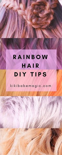 How to create pastel pink, orange, peach and rose gold hair at home!   Rainbow Hair DIY Tips: my favorite at-home hair dyes and hair care products