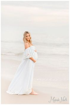 Beach Maternity Photography by Miranda North