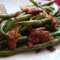 """Smothered Green Beans I """" Everyone loved them, and hubby went back for thirds!"""""""