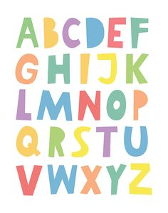 A colourful rainbow alphabet poster from Mini Learners. Perfect for children's bedrooms or playrooms. Multi-coloured children's prints with a Scandinavian design, available in size.