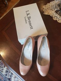 550fccbea5cc Authentic L.K. Bennett London Nude Leather Heels Size 39 (US 9)  fashion