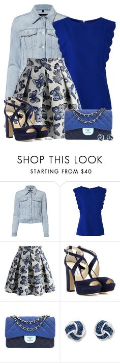 """""""Bez naslova #2989"""" by martina-cciv ❤ liked on Polyvore featuring J Brand, Chicwish, Jimmy Choo and Chanel"""