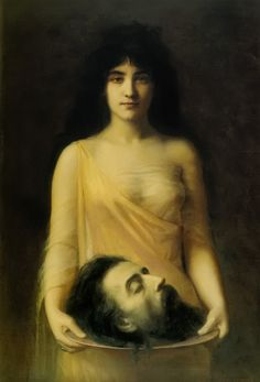 Salome by Jean Benner, 1899 #painting #classic #head #plate #woman #portrait