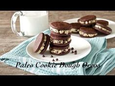Paleo Cookie Dough Oreos - Living Healthy With Chocolate grain free soy free dairy free gluten free egg free (with chia egg replacement)