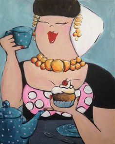 Zeeuwse boerin3 Funny Paintings, Easy Paintings, Painting People, Woman Painting, Plus Size Art, Black Art Pictures, Cupcake Art, Funny Art, Cute Illustration