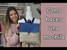 - TUTORIAL- COMO HACER UNA MOCHILA ( patrones gratis) - YouTube Mochila Tutorial, Pouch Tutorial, Diy Clothes Bag, Mochila Jeans, Modern Backpack, Denim Backpack, Couture Sewing, Quilting For Beginners, Patchwork Bags