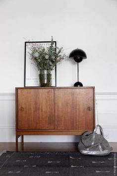 Mid century modern bar cabinet with beautiful styling