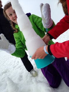 Big, bigger, biggest!   Build amazing snow sculptures with the Quut Alto sandcastle tool! www.quutbeachtoys.com