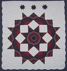 Broken Star Patchwork Amish Quilt - WOW!!