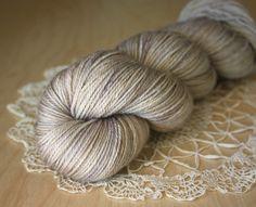 Silky Caresse / Fingering Weight / Lavande Merino Wool Cashmere Silk Hand Dyed Yarn