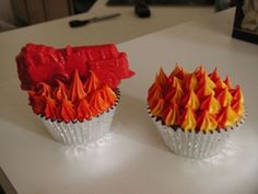 flame candy molds | for a boy's birthday party. We used a fire truck mold with red candy ...