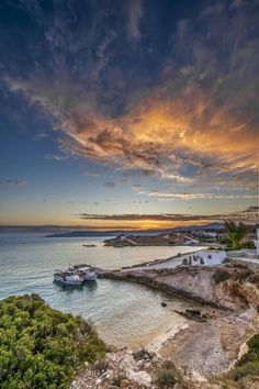 Nice sunset Heaven On Earth, Greece Travel, Greek Islands, Beautiful Images, Scenery, Tours, In This Moment, Explore, Landscape