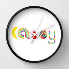 Candy Wall Clock by Moonshine Paradise - $30.00