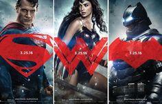 #BatmanVSuperman: Homem de Aço, Mulher Maravilha e Homem Morcego em novos cartazes >> http://glo.bo/1QrwNKT