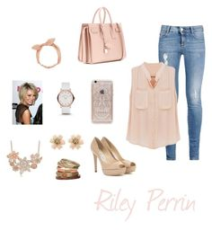 """""""Baby Daddy Looks - Riley Perrin"""" by oh-how-graceful ❤ liked on Polyvore featuring STELLA McCARTNEY, Jimmy Choo, Yves Saint Laurent, Rifle Paper Co, Arizona, Kane, Marc by Marc Jacobs and Wallis"""