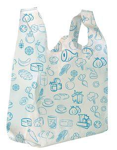 Market alışverişinde ve günlük kullanıma uygun çevre dostu 'ecobag' bez torba.