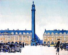 Kees van Dongen (Dutch, 1877–1968)  Place Vendome, 1918–20  Oil on canvas  31 1/2 x 39 3/8 in. (80.01 x 100.01 cm)