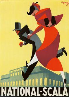 Advertising by Arne Ungermann (1902-1981), 1931, National Scala. (Danish)