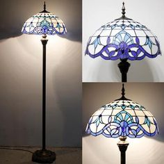 Stained Glass Floor Lamp Geometric Pattern
